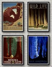 USA / America Retro Travel Posters Vintage/ Prints / Illustrations
