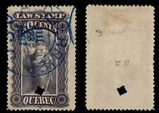 Canada Quebec Law Stamp 1893 10 Cents Cherrier Cancel 1897 QL32 #198A