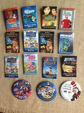Mixed Lot 15 Movie Memorabilia Promo Pin Buttons Disney Classic Character Rare