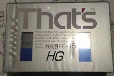 VHS C VERGINI THAT'S EC-45 HG