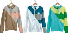 NWT  Nomis Women's Spring Stacy Hoodie S, M or L Heather Sand, White, Blue
