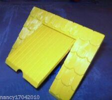 1 Lego Duplo Dach Element für Scheune Haus Bauernhof Dach m. Klappe Luke Roof