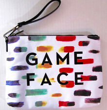 Game Face Bag by Milly Wristlet Strap Padded Canvas Purse or Cosmetic Bag New