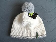 STÖHR Germany Nature Virgin Wool Bobble Beanie Toque Hat MADE IN GERMANY