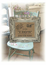 """Vintage Rustic Brown """"This way to the i do's and the kiss"""" wedding sign A3!"""