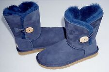 NEW Women's Ugg Bailey Button Navy Winter Boots Shoes 5