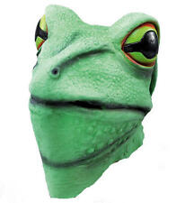 Frog Overhead Rubber Mask Fancy Dress Costume Outfit Prop Frogs Head