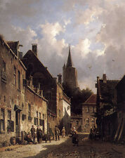 Metal Sign Eversen Adrianus A Dutch Street Scene A4 12x8 Aluminium