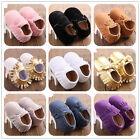 Cute Colors Leather Tassel Soft Sole Shoes Infant Baby Boy Girl Toddler Moccasin