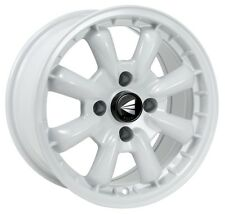 16x7 Enkei COMPE 4x100 +25 White Rims Fits Accord Integra Civic Miata Fox