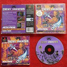 X. com enemigo desconocido Original Etiqueta Negra Sony Playstation PS1 PS2 PAL