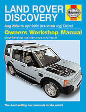Land Rover Discovery Diesel 2.7 V6 Turbo 04 - 09 2004 2009 HAYNES MANUAL 5562C
