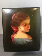 Russian Hand Painted Lacquer Box.