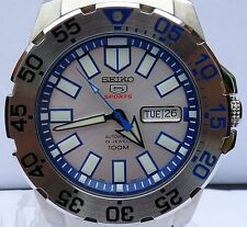 SEIKO NEW MENS AUTOMATIC 24 JEWEL SUBMARINER WATCH SRP481K1