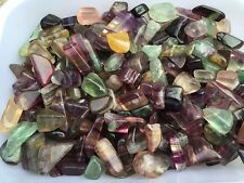 Bulk Tumbled Bulk Rough Fluorite Gemstones, 1/2 lb Gemstone mineral