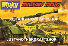 Dinky toys militaires pourraient ARMY WWII format A3 Poster publicité affichage SIGNE notice