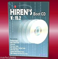 HIRENS Bootcut CD di utilità di backup FIX Slow RUNNING CRASH errori PC / Laptop Nuovo