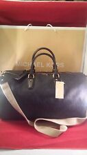 NWT AUTHENTIC MICHAEL KORS HAND BAG TRAVEL WEEKENDER LEATHER BALTIC BLUE