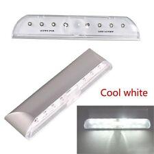 8 LED PIR Body Induction Battery LED Wall Night Light Sensor Lamp White Tool