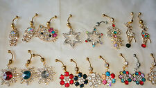 Joblot of 18pcs Surgical Steal & Diamante Belly Bars - NEW Wholesale