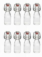 8 glass bottles 70 ml with Swing top cap