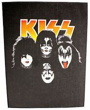 KISS Four Faces Logo Sew On Back Patch New & Official Band Merch