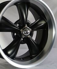 "17"" Matte Black MD Classic Wheels (4) 17x8 Inch 5x120.65 Rims Corvette 68-82"