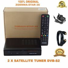 ORIGINAL+2017 ZGEMMA STAR 2S DVB-S2 TWIN TUNER SATELLITE RECEIVER ENIGMA FTA