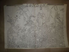London Camden Holloway Islington E.Weller ci1863 Dispatch Atlas Framed GBP40more