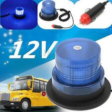 Blue LED Car Truck Bus Roof Magnetic Strobe Flash Flashing Beacon Light DC 12V