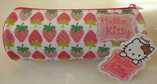 Hello Kitty Strawberry Barrel Pencil Case Official Sanrio BNWT