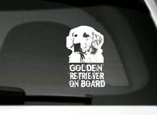 Golden Retriever On Board, Car Sticker, High Detail, Great Gift For Dog Lover