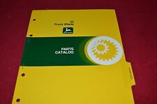 John Deere 42 Front Blades Dealer's Parts Book Manual PANC