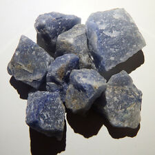 Blue Quartz (5 crystals) Natural raw rough healing third eye chakra reiki