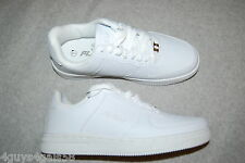 Mens Athletic Shoes SOLID WHITE Sneakers FUBU TRIBUTE Padded Tongue Collar 8