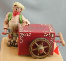 Peter Figuren Mecki Hedgehog Mohair Steiff Organ Grinder Music Box Works Great