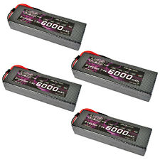 4pcs HRB RC Lipo Battery 7.4V 6000MAH 60C Traxxas Car Hard Case Truck airplane