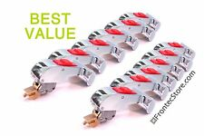 12 x T-shape Silver Door Handles (w Red button). -Parts for IPSO washer!!!