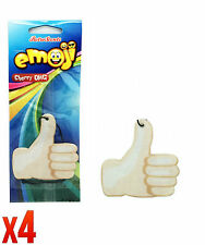 Retro Scents Emoji Car Air Freshener Cherry OMG - Thumbs Up *Pack of 4*