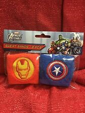 Avengers Iron Man & Captain America Wrist Sweat Bands 2pk Party Favors Supplies