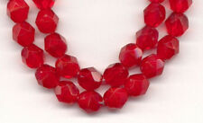 Opal Ruby Red Round Faceted Glass Beads 6mm 40pcs
