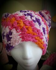 New Handmade Multi-  Pink Kitty Hat, Pussy-Hat, Cat Ears, Women's Movement,