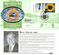 5 SEPTEMBER 2000 MILLENNIUM PANE BENHAM D 361 SIGNED TV WEATHERMAN BILL GILES