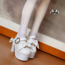1/4 BJD Shoes MSD High heels Dollfie DREAM bow white Shoes Dollmore Luts AOD DOD