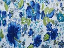"3 YARDS & 24"" STRETCH PLEATED KNIT FABRIC BEAUTIFUL PRINT"