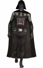 """Darth Vader 2nd Skin Costume for Men size M (5'-5'4"""") New Rubies 880978 w/Defect"""