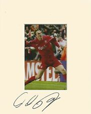 10 x 8 inch mount personally signed by Dietmar Hamaan of Liverpool on 07.09.2014