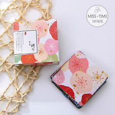 40X Japan Style Flower Paper Masking Sticker Baking Wrap Decor Gift Lable Seal