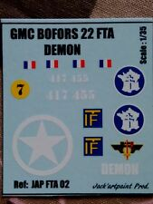 JAP FTA 02 * DECALS 2ème DB @ GMC bofors 22 FTA - DEMON @ 1/35