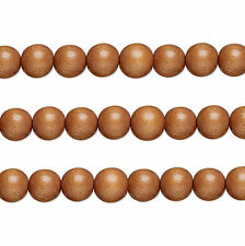 Wood Round Beads Light Brown 8mm 16 Inch Strand